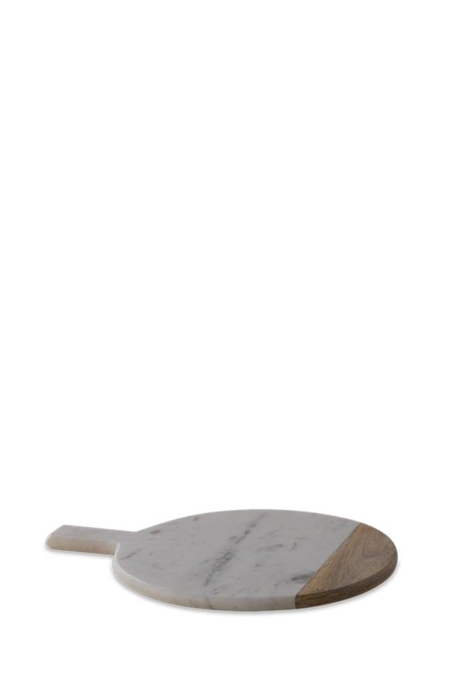 Nu Bwari Round Marble Board White