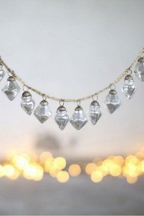 Ekiti Bauble Garland in Antique Silver