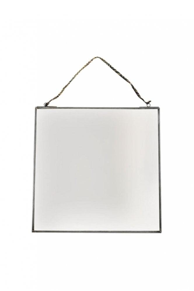 Nkuku Kiko Antique Zinc Mirror 30cm x 30cm