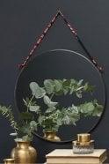Nkuku Kiko Round Mirror in Zinc