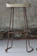 Nkuku Loko Stool in Mango Wood and Rust