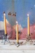 Nkuku Natema Glass Star Candlestick
