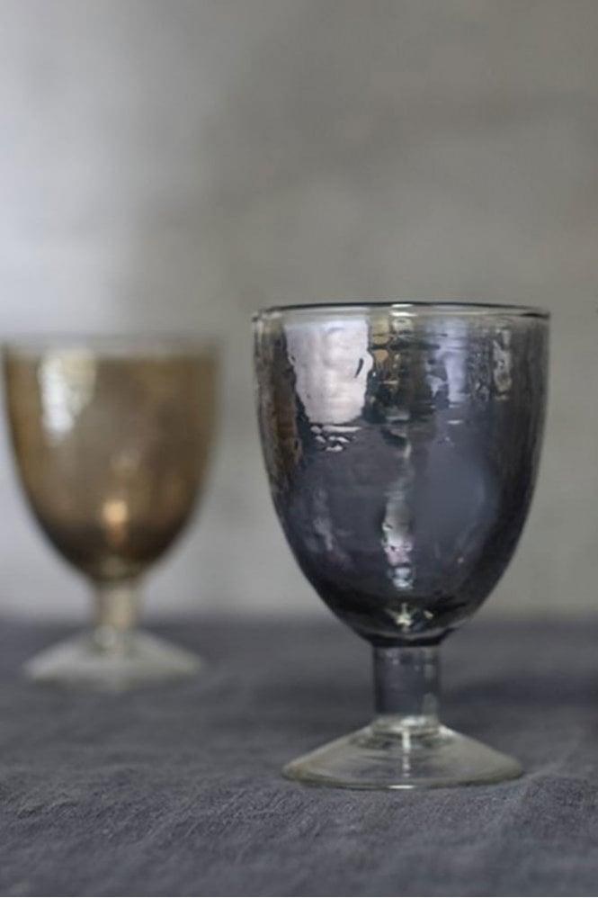 Nkuku Ozari Aged Silver Wine Glass