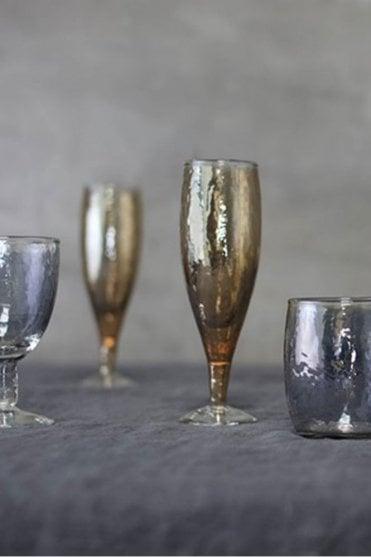 Ozari Copper Champagne Glass