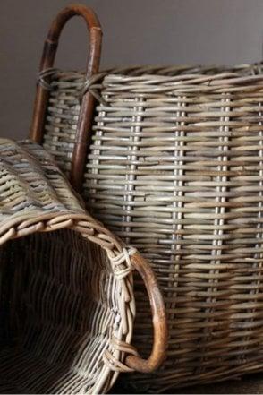 Rattan Square Basket