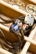 Nkuku Tembo Ceramic Hook in Black