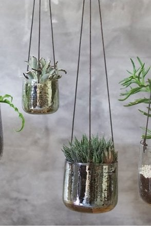 Viri Hanging Planter - Emerald