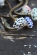 Nkuku Zena Ceramic Hook in Black