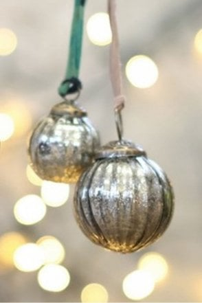 Zia Silver Bauble – Textured
