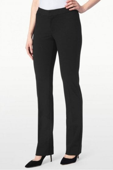 Ponte Knit Trouser in Black