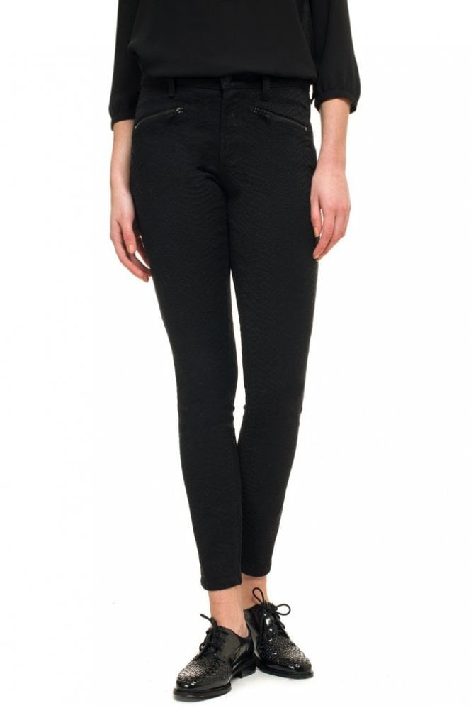 NYDJ Super Skinny in Black Snake Jaquard