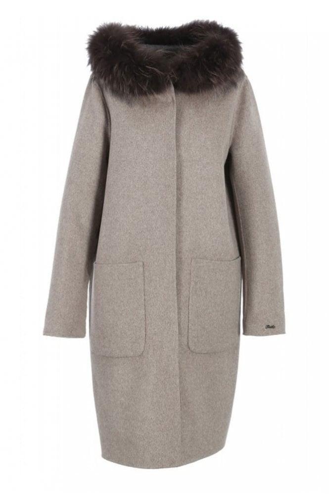 Oakwood Yale Merino Wool Reversible Beige Coat