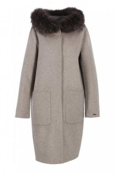 Yale Merino Wool Reversible Beige Coat