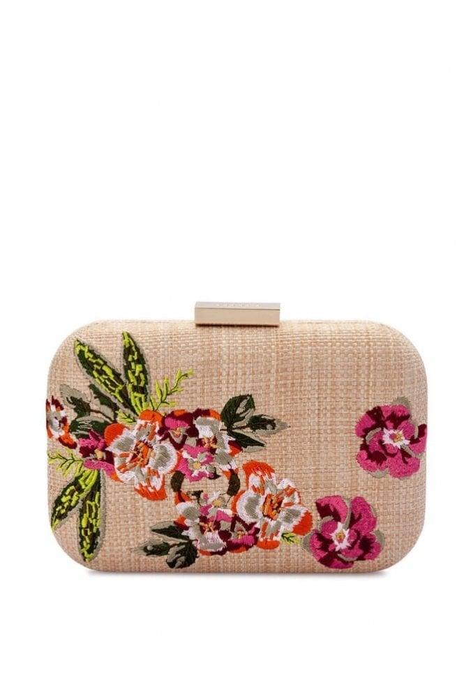 Olga Berg Lani Floral Embroidered Clutch