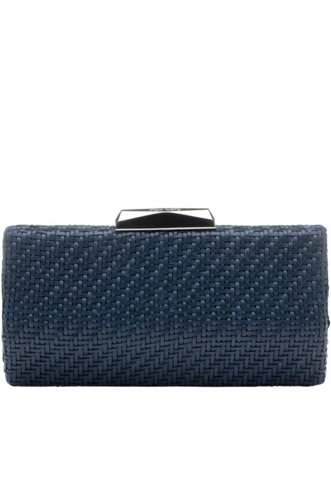 Olga Berg Textured Woven Pod in Navy