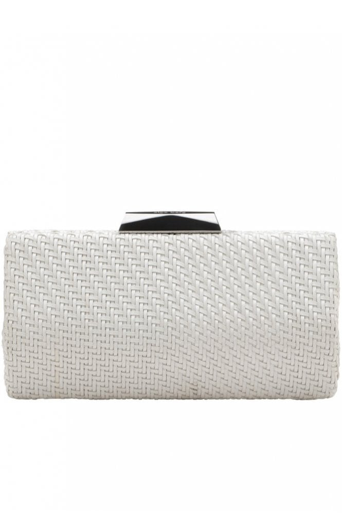 Olga Berg Textured Woven Pod in White
