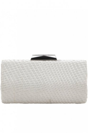 Textured Woven Pod in White