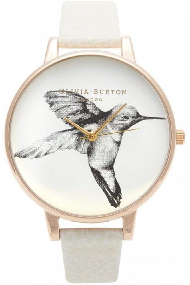 Olivia Burton Animal Motif Hummingbird Watch in Mink and Rose Gold