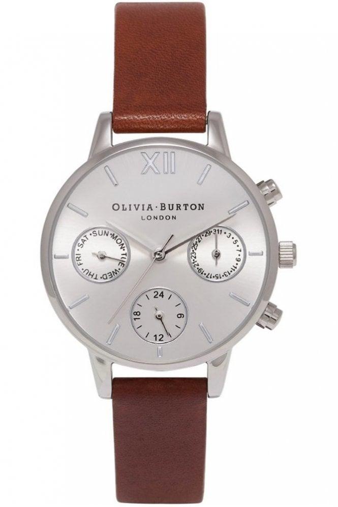 Olivia Burton Midi Dial Chrono Detail Tan and Silver