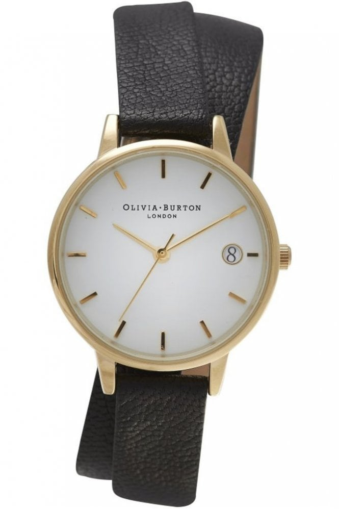 Olivia Burton The Dandy Wrap Watch in Black and Gold