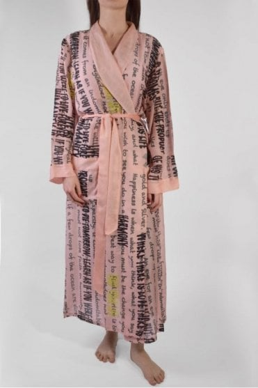 Chatty Pink Dressing Gown