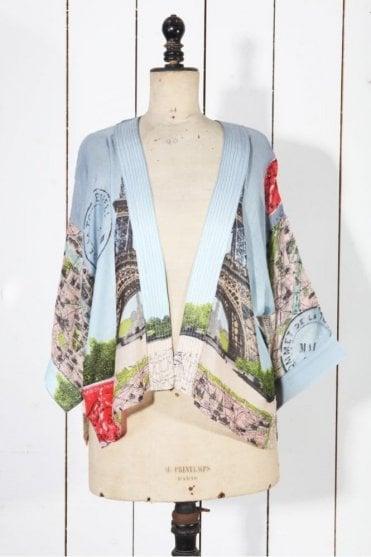 Eiffel Tower Kimono