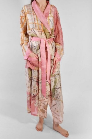 NYC Dressing Gown in Pink