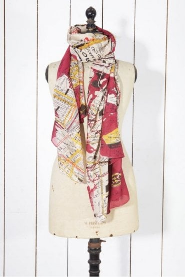 NYC Scarf in Burgundy