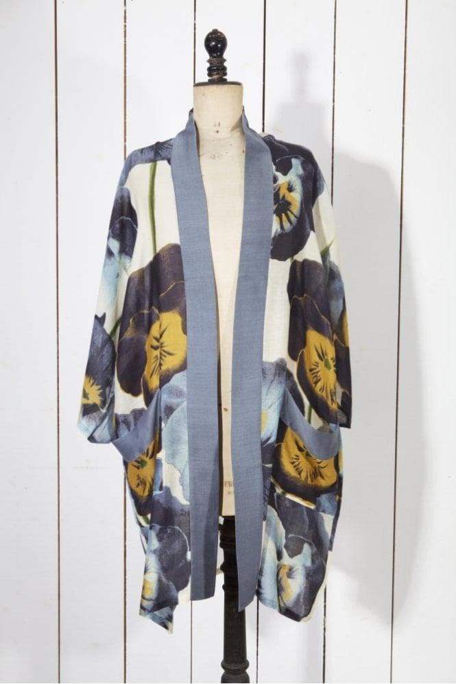 One Hundred Stars Pansy Long Kimono