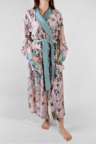 Paris Dressing Gown in Pink