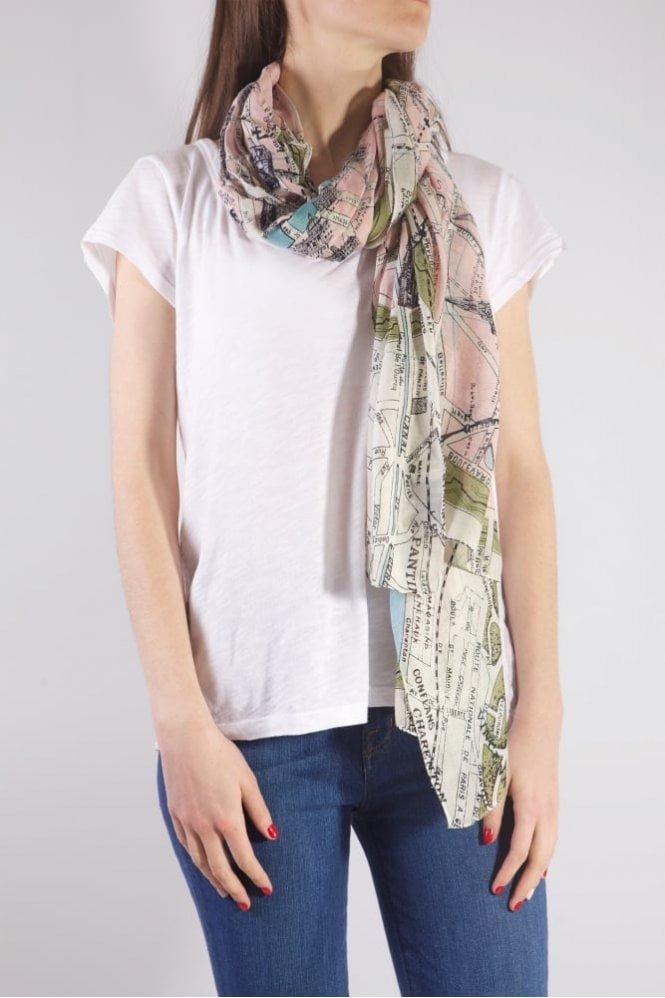 One Hundred Stars Paris Streets Scarf