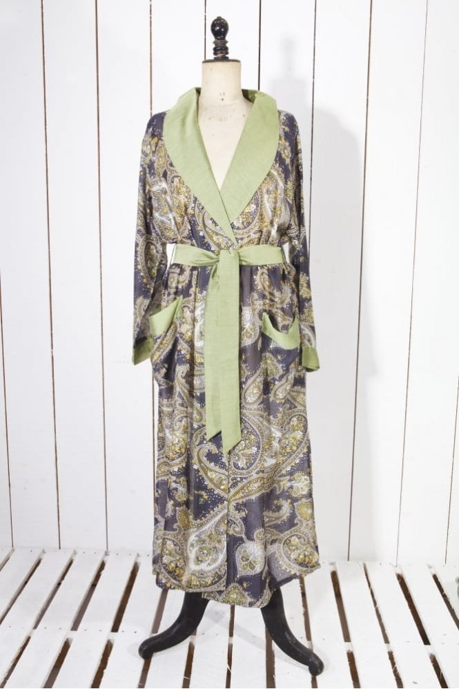 One Hundred Stars Perfect Paisley Gown in Olive