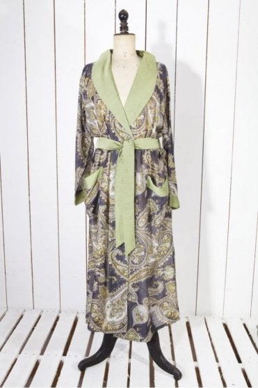 Perfect Paisley Gown in Olive