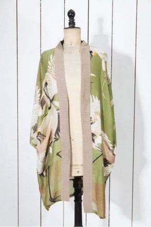 Stork Long Kimono