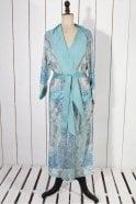 One Hundred Stars Taj Duck Egg Dressing Gown