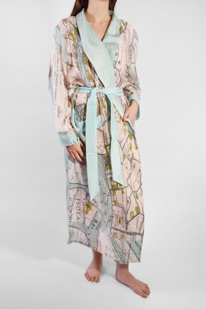 Duck Egg Blue Dressing Gown - Home Decorating Ideas & Interior Design