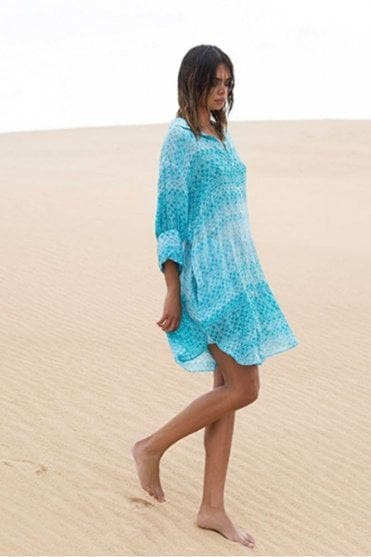 Ella Dress in St Germain Turquoise