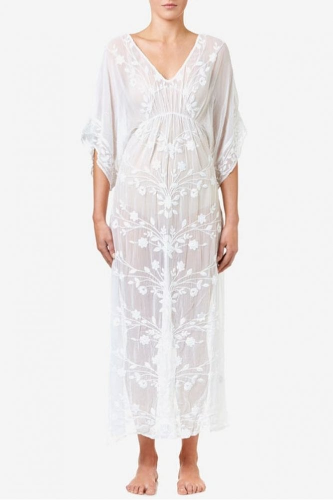 One Season Floaty Long Dress in White