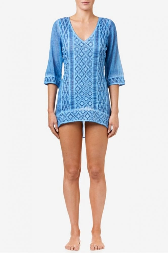 One Season Giselle Cotton Top in Sky