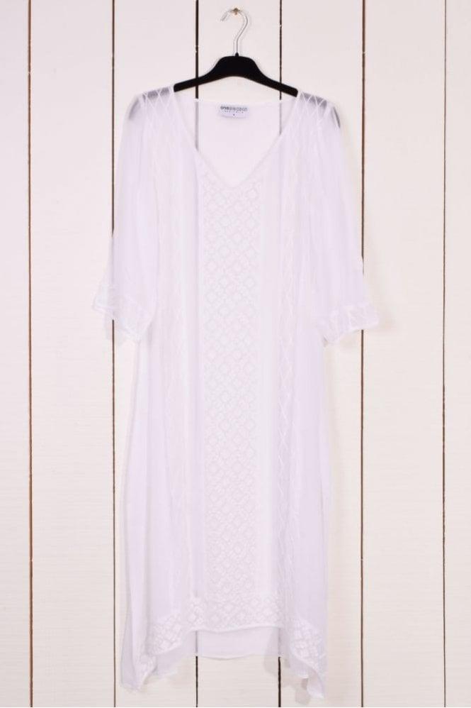 One Season Giselle Long Dress in White