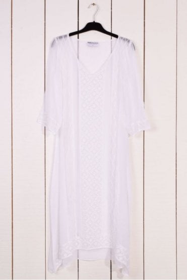 Giselle Long Dress in White