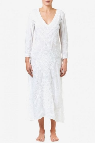 Goa Cotton Dress in White