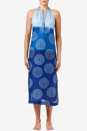 Jacqui Cotton Dress in Royal