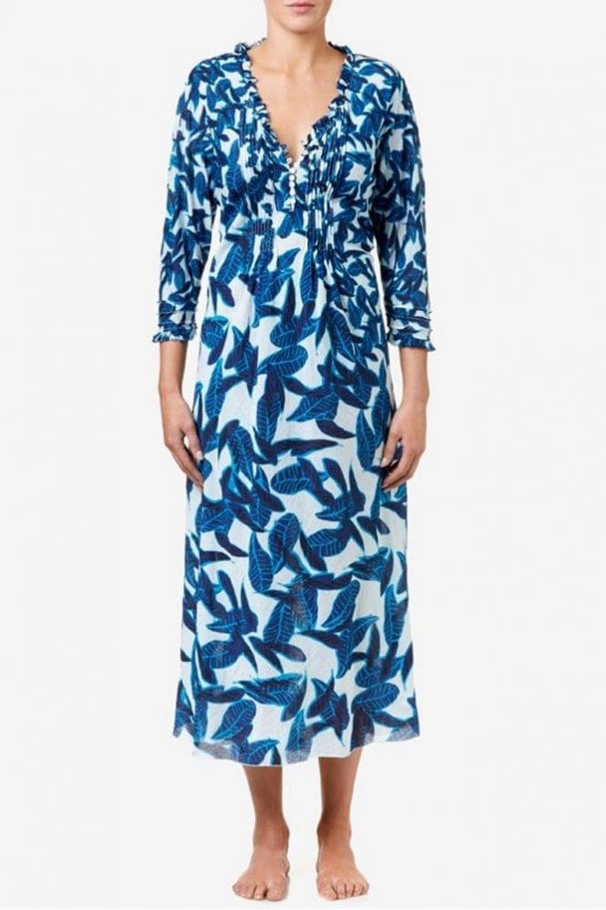 One Season Long Poppy Cotton Dress in Jodphur
