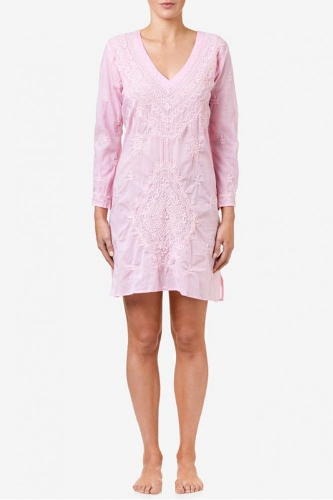 One Season Middy Goa Cotton Dress in Pink