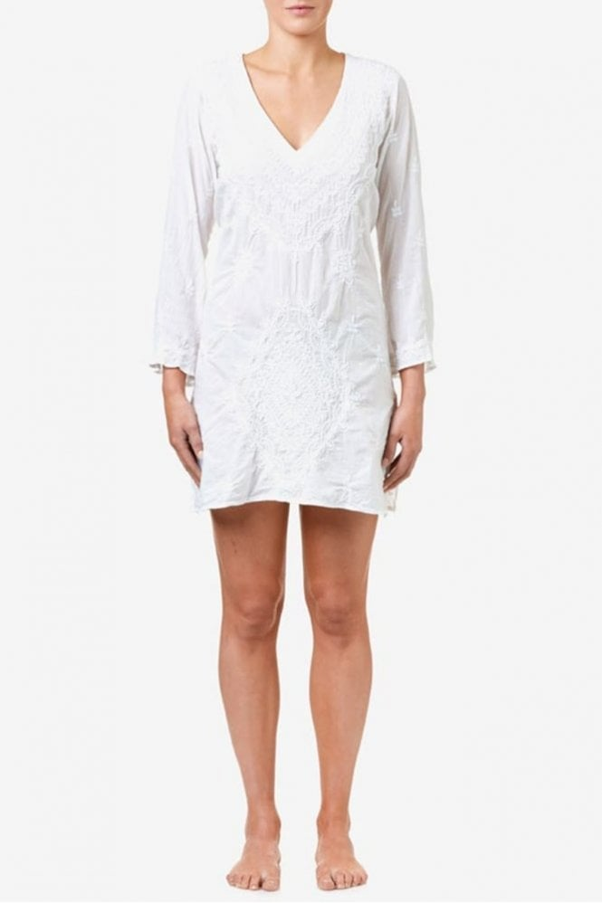 One Season Middy Goa Cotton Dress in White