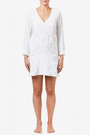 Middy Goa Cotton Dress in White