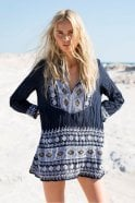 One Season Safi Cotton Top in Ink
