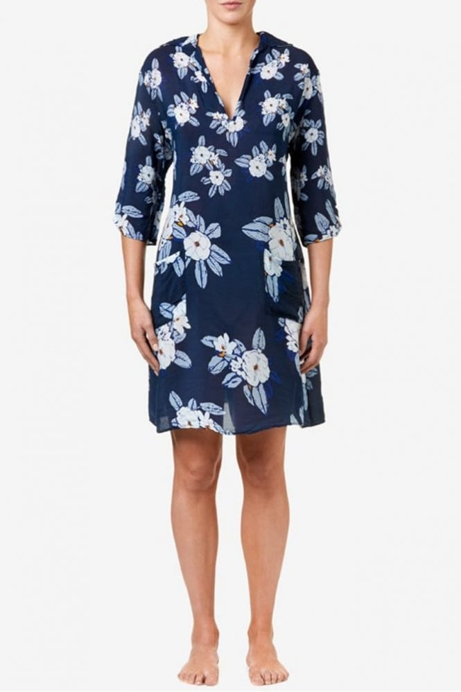 One Season Shift Dress in Magnolia Ink