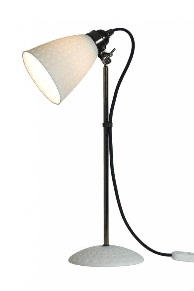 Original BTC Hector 21 Table Lamp in White Textured